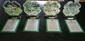 4 limited edition Celtic Plaques The Henrik Larsson collection