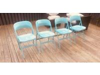 IKEA FRODE CHAIRS TURQUOISE x 4