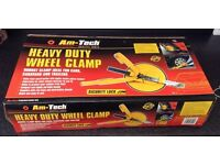 Am-Tech Heavy Duty Wheel Clamp Suitable For Cars Vans Caravansb Brand New Boxed!!!