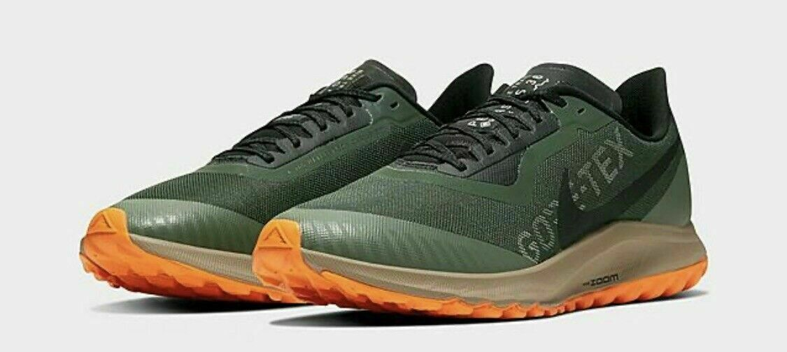 Nike Zoom Pegasus 36 Trail GTX Gore Tex Green Orange BV7762-