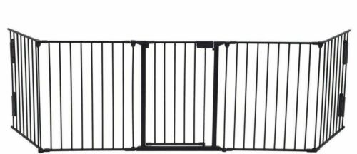 Safety Fence Gate for Fireplace Baby Child Pets Metal Hearth Gate Adjustable