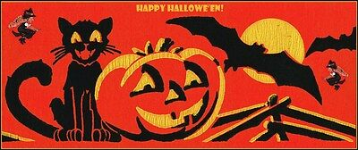 HALLOWEEN 1930'S CREPE PAPER VINTAGE REPRODUCTION POSTER - Halloween 1930s