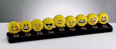 "Emoji Menorah 12"" X 2"" X 2.5"" Brand New In Slightly Dented Box!](Make Menorah)"