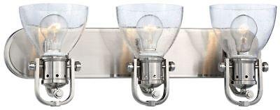 Minka Lavery 3413-84 Seeded Bath Art 3-Light Bathroom Vanity - Brushed - Brushed Nickel Bath Art