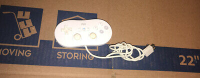 Official Nintendo Wii Classic Pro Controller White RVL-005 OEM Tested Working