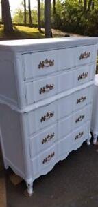Bureau 5 tiroirs en bois