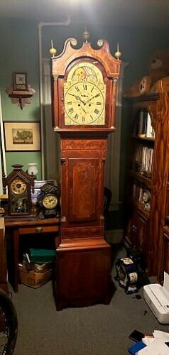 C.1825 John Vick of Stroud Georgian Grandfather Moonphase Longcase Clock