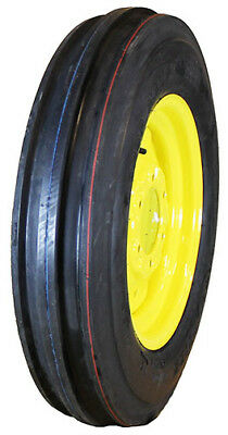 1 Crop Max 5.50-16 Front Tractor 3-rib Tire Mounted On John Deere Wheel Kit B-3