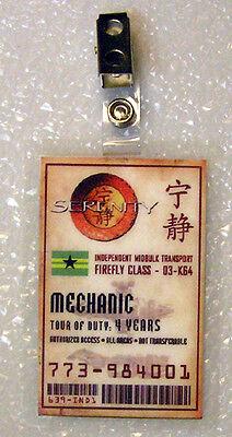 d Badge-Mechanic Cosplay Kostüm Requisite (Kostüme Firefly)