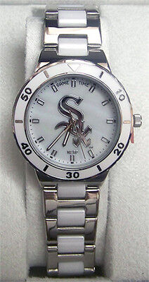 (Chicago White Sox Game Time Pearl Watch Ladies GameTime MOP MLB-PEA-CWI )