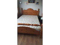 pine double bed (mint Condition)