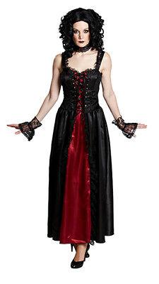 Gothic Lady Dark Lady Halloween Gothickostüm Kleid Kostüm für (Gothic Kostüme Für Halloween)
