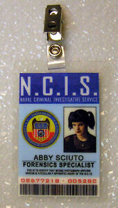 NCIS TV Series ID Badge-Forensic Specialist Abby Sciuto costume prop cosplay