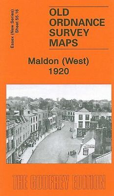 OLD ORDNANCE SURVEY MAP CHELMSFORD WEST 1920