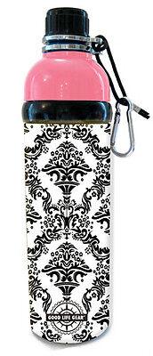 24 oz. Damask Print Stainless Steel Water Bottle - Good Life Gear BPA-Free