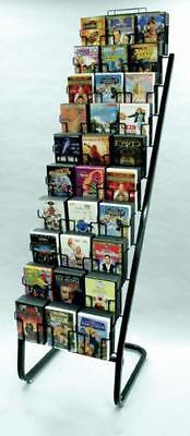Floor Dvd Display Rack - 10 Tier 30 Pocket Black