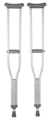 - Underarm Crutch, Adult Crutches, Aluminum, Adjustable User Height 5'2