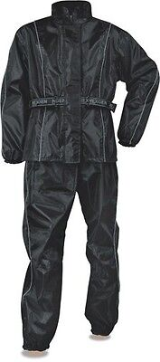 Deluxe Rainsuit (Men's Deluxe Rain Suit For all Motorcycle Riders w/ Reflective Piping)