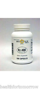 Bio-Tech Vitamin B-2 400 mg 100 caps - Free Shipping