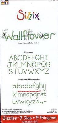 Sizzix Sizzlits Alphabet Set WALLFLOWER Upper & - Sizzix Sizzlits Alphabet
