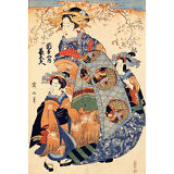 Mother and Daughters 30x44 Japanese Print by Eizan Asian Art Japan