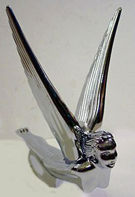 1 Flying Girl Goddess Lady Car Truck Hood Ornament All Metal Chrome With Wings