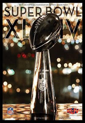 Super Bowl XLIV (Miami 2010) Official NFL Football Event POSTER (Saints Win) ()