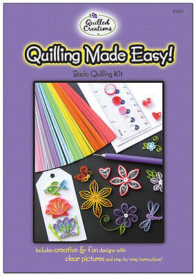 Quilling Made Easy-basic Kit-quilled-w/ Slotted Tool-paper Crafting/card Making