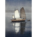 Sailing Boats Afternoon 15x22 Japanese Print by Yoshida Asian Art Japan