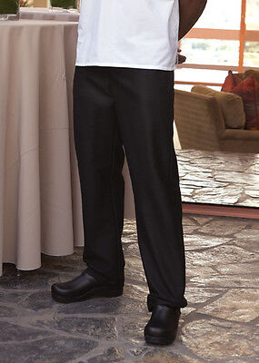 Uncommon Threads 4013 Chef Kitchen Pants, Black or Houndstooth, Sizes 28-42