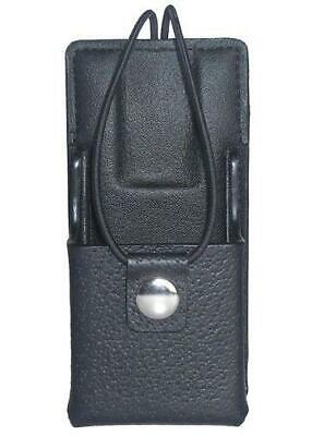 Leather Carry Case Holster For Motorola Pr860 Two Way Radio