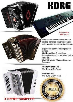 Korg Samples De Accordion Gabbanelli, Hohner Y Weltmeister for sale  Moses Lake
