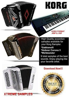 Korg Accordion Samples Gabbanelli ,Hohner & Weltmeister, used for sale  Moses Lake