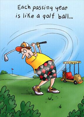 - Man Golfing Funny Masculine Birthday Card - Greeting Card by Oatmeal Studios