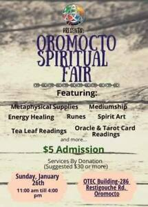 Spiritual/Psychic Fair Oromocto January 26th