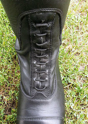 Black Elastic field boot replacement laces