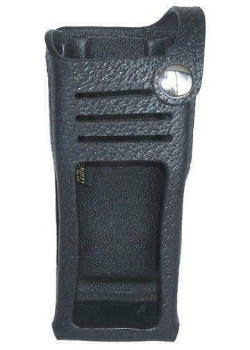 Leather Carry Case Holster for Motorola XPR 7550e Two Way Radio