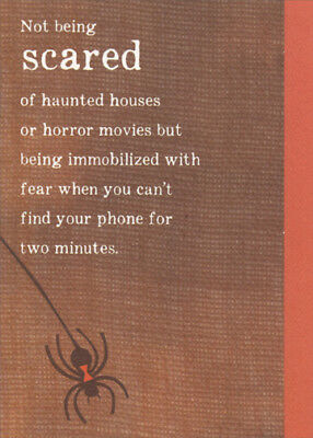 Funny Halloween Cards (Scared Cant Find Phone Funny Halloween Card - Recycled Paper)