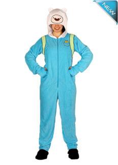 Onesie Adventure Time Fake & Finn Brand New 2014 Costume