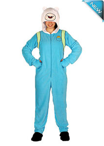Unisex Onesie Adventure Time Jake and Finn Costume Flannel Fleece Cronulla Sutherland Area Preview
