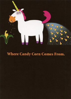 Candy Corn Unicorn Funny Halloween Card - Recycled Paper Greetings](Halloween Greetings Funny)