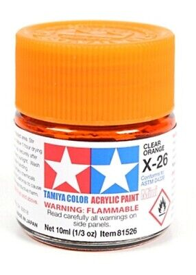 Tamiya 81526 Acrylique Modèle Peinture X-26 Transparent Orange 10ml Pot