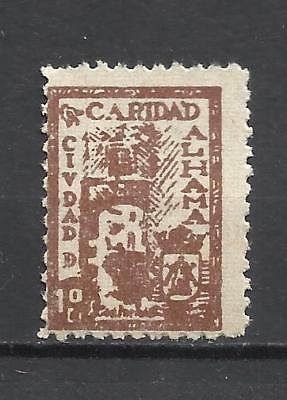 7041-SELLO LOCAL ESPAÑA GUERRA CIVIL ALHAMA D GRANADA CARIDAD,SOBRETASA NACIONAL
