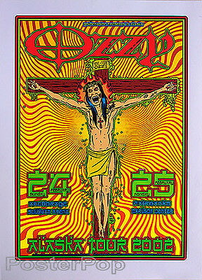 Forbes Ozzy Osbourne 02 Silkscreen Concert Poster Signed Black Sabbath Tattoo