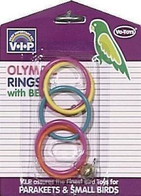 VOTOYS XPET BIRD SMALL OLYMPIC RINGS BIRDS TOY FOR CAGE. FREE SHIP IN THE USA