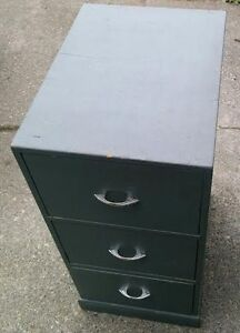 SOLID WOOD MID CENTURY INDUSTRIAL WOODEN FILING CABINET