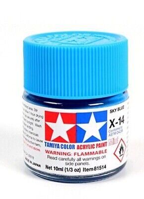 Tamiya 81514 Acrylique Modèle Peinture X-14 Bleu Ciel 10ml Pot T48 Après