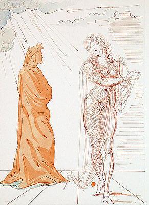 Salvador Dali, Divine Comedy, Inferno / Hell Canto 2: Virgil Comforts Dante