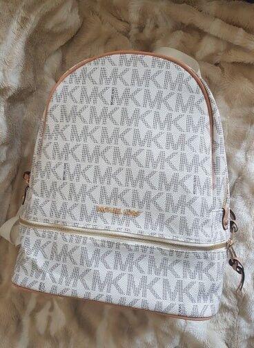 df90391ee145 Michael Kors backpack, never worn, MK logo, medium size, white. | in ...