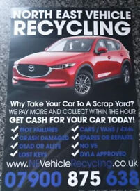 SCRAP VEHICLE COLLECTIONS TODAY